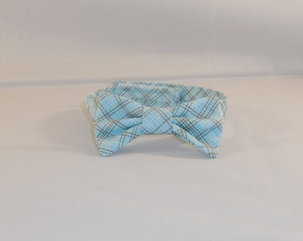 Blue and Brown Plaid Baby Or Pet Adjustable Bowtie