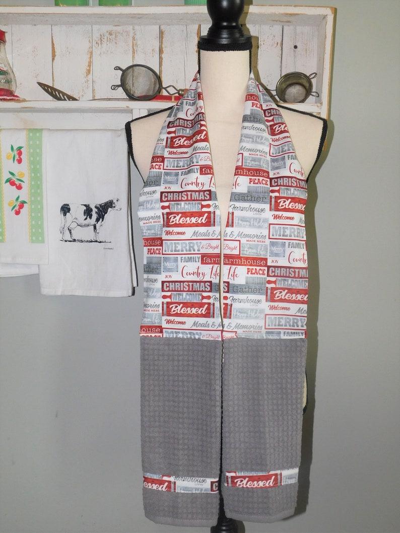 Baker/'s Boa Made With Farmhouse Christmas Fabric