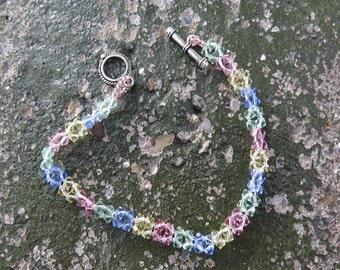 Swarovsky Crystal Bead Woven Bracelet