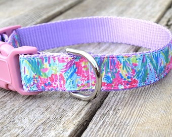 """Easter Dog Collar, 1"""" wide, available in M, L, XL"""