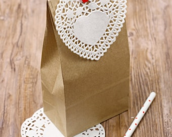 Sacchetti di carta da pacco pesante (10 pz)