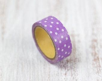 purple polka dot washi tape