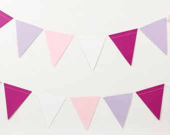 Party garland in shades of pink colored card (250 cm)