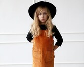 Cord apron dress for girl/OFFON CLOTHING
