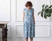 Floral Print Dress - Floral Dress - Sleeveless Dress - Handmade by OFFON