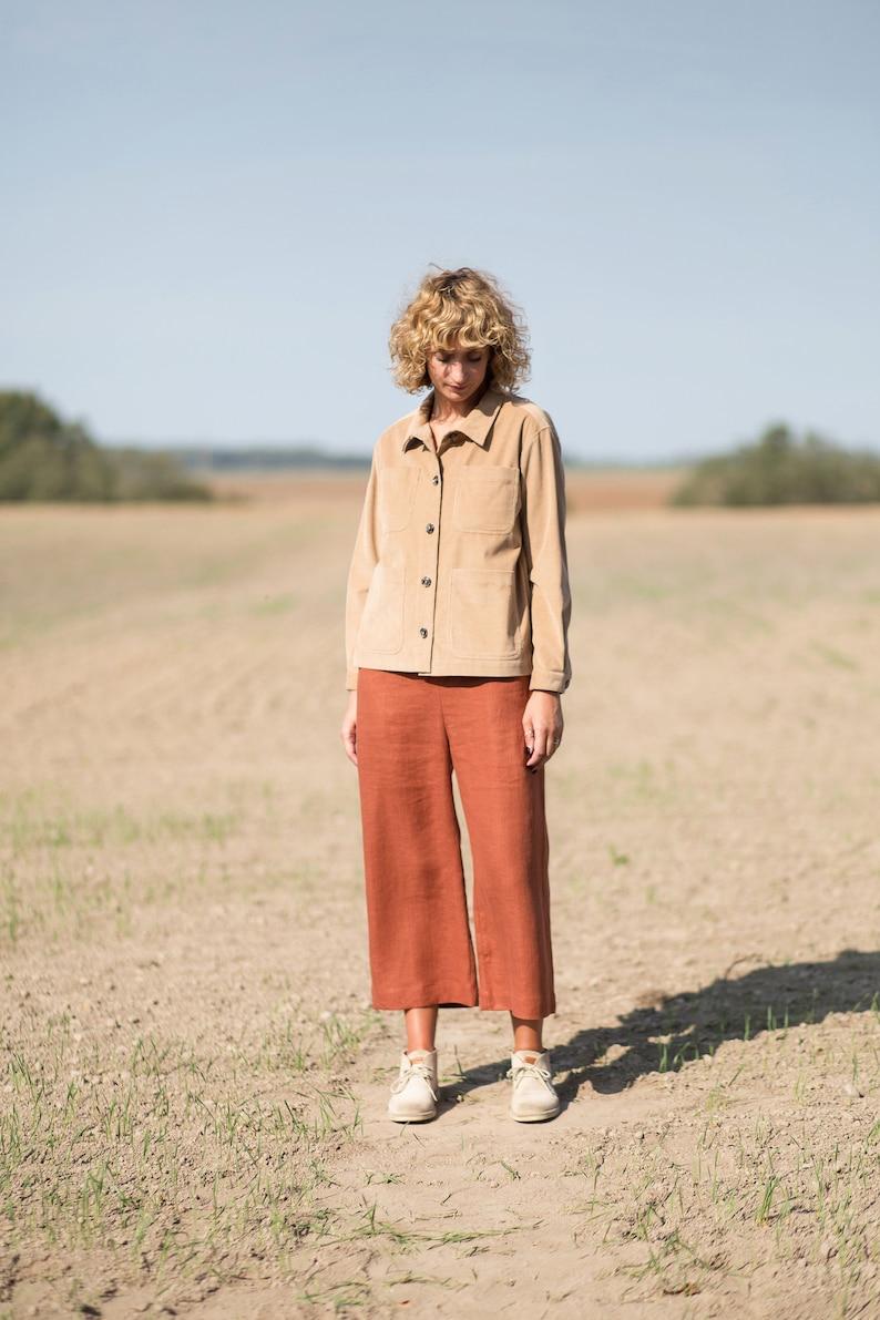 Maternity linen sleeveless wide leg jumpsuit  Maternity clothes  OFFON CLOTHING