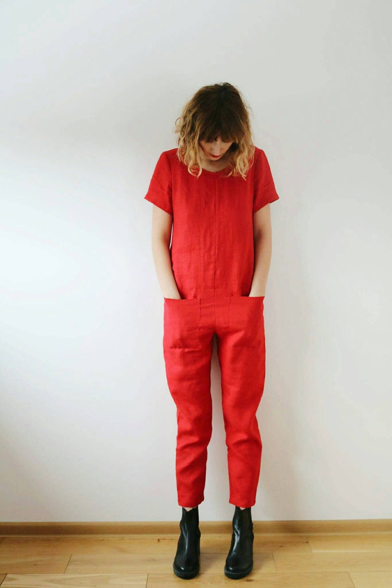 OFFON / Linen Jumpsuit / Linen Jumper / Jumpsuit For Women / image 0