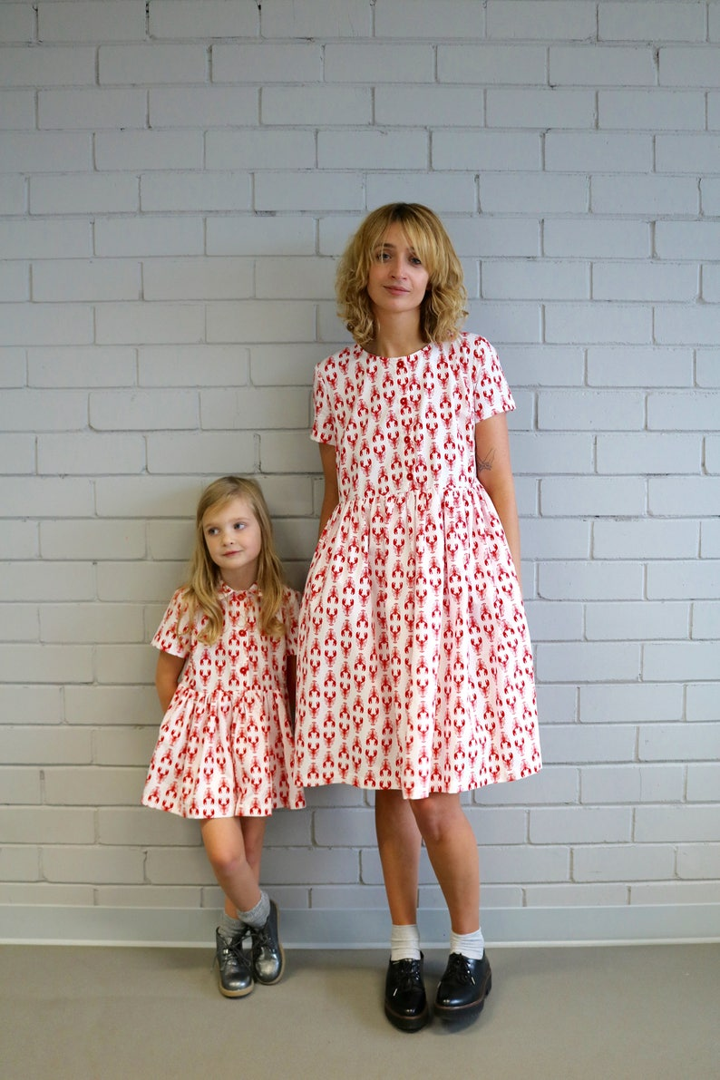 a04ad30f7 Matching Dresses Lobster Print Dresses Poplin Dresses image ...