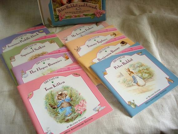 Beatrix Potter  Peter Rabbit dollhouse miniature book w//colored pages