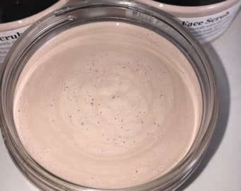 Rose clay face scrub