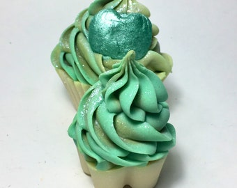 Cupcake Soap in green apple