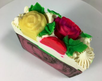 Flower Bomb Vegan Artisan Soap Bar 5oz