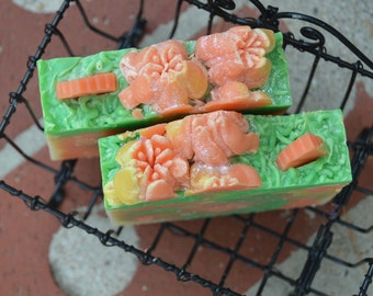 Melon  and Cucumber handmade soap