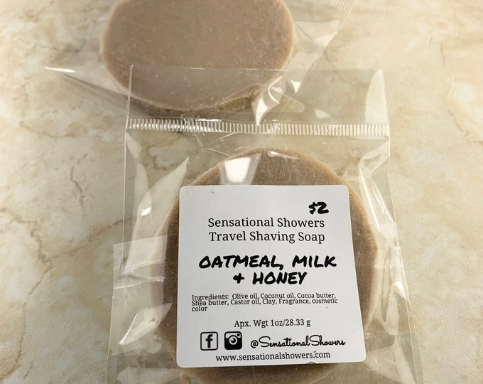 Oatmeal, Milk & Honey Travel Shaving Soap