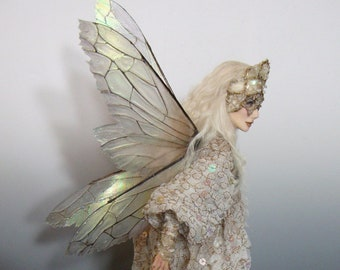 "Art Doll Fairy, "" TANNITH"", an OOAK (One of a Kind Art Doll) sculpture by Victoria Mock"