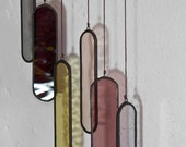 Mini Courso Elements (set of 6) // window hanging, wall art, customizable, suncatcher, glass art, modern stained glass