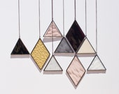 Stained Glass Elements (set of 9) // window hanging, wall art, customizable, suncatcher, glass art, modern stained glass