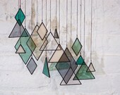 Stained Glass Elements (set of 17) // window hanging, wall art, customizable, suncatcher, glass art, modern stained glass