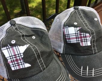 outlet store 2540b 66c60 Minnesota Trucker Hat for Women - Minnesconsin Trucker Hat - Distressed  Trucker Hat