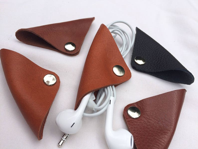 Leather Cord Wrap  Cord Holder for Headphones,Charger Power Cord
