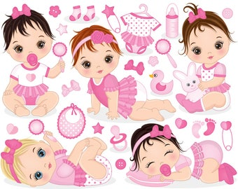 baby girl clipart vector princess clipart baby clipart etsy rh etsy com baby girl clipart png baby girl clipart with initial