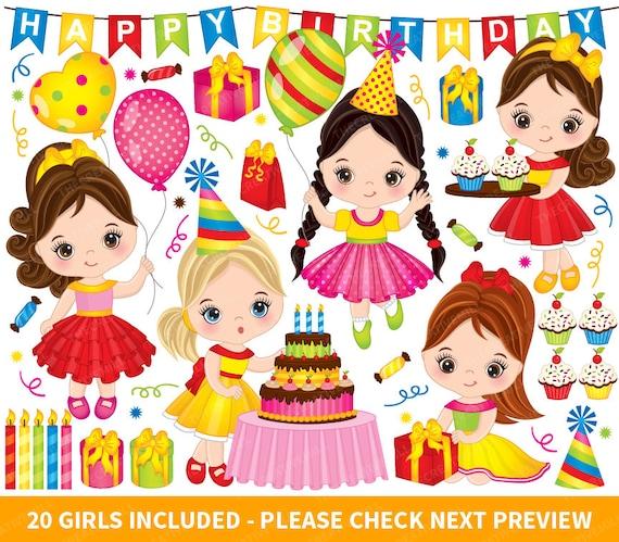 Birthday Party Clipart Vector Birthday Clipart Birthday Etsy