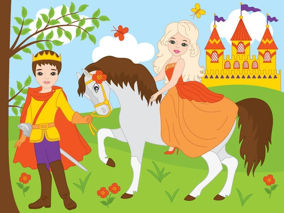 Prinzessin auf dem Pferd Mädchen Comic Märchen Kinder T-Shirt mit Wunschnamen