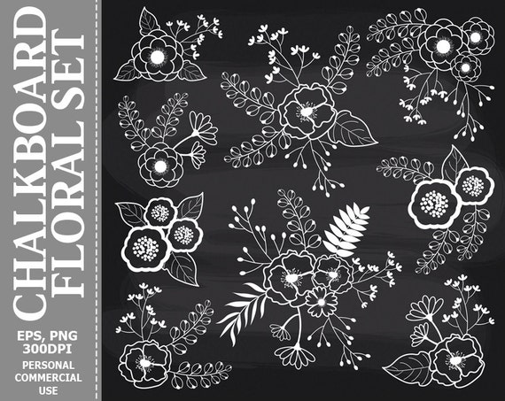BIG SET! Chalkboard Flowers clipart, Hand Drawn Flowers, PNG, Flowers, Chalkboard  clip art, For Personal and Commercial Use | Summer chalkboard art, Chalkboard  flowers, Chalkboard art