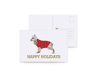 Holiday Dogs Postcard Set