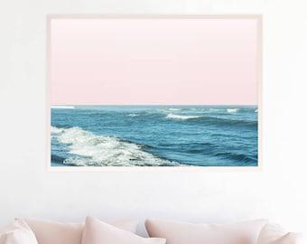Ocean Art, Ocean Decor, Ocean Print, Ocean Photography, Beach Decor, Beach Wall Art Print, Printable, Digital Download, Ocean Waves Art b8cp