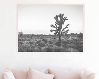 Cactus Printable, Desert Art, Cactus Print, Desert Photography Poster, Black And White Print, Desert Print, Joshua Tree Photo Print, jt3c2bw