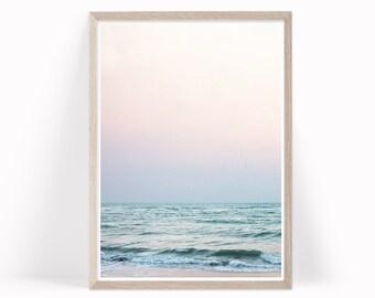 Beach Wall Art, Ocean Waves Print, Coastal Decor, Ocean Photography, Ocean Photo Ocean Beach Printable Download, Seascape Beach Decor, b7c4c