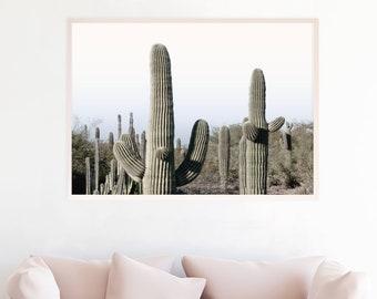 Desert Decor, Desert Art, Desert Photograpy, Desert Wall Art, Desert Print Download Desert Printable Art Saguaro Cactus Pastel Sunset sc1cl