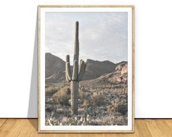 Cactus Print, Saguaro Cactus Wall Art, Desert Print, Desert Art, Desert Landscape Photography Printable, Digital Download, Cacti Art d7cp
