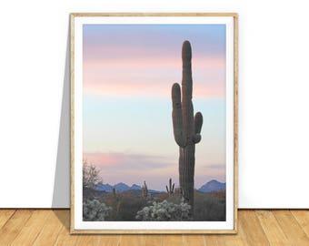 Desert Print, Cactus Print, Desert Art Photography Digital Download, Printable Art, Cactus Wall Art Photo, Southwestern Decor, d1c1c2