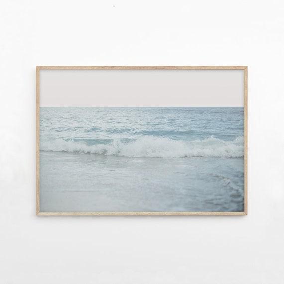 A4 A0 Framed Ocean Waves Motivational Quote Home Decor Art Poster Print