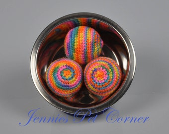 Bikini Multicolor Small Dog Toy - Inside Toy for Dogs - Dog Play Toys - Inside Fetch Ball - Toys for Dogs - Unique Dog Gifts - Dog Toy Gift