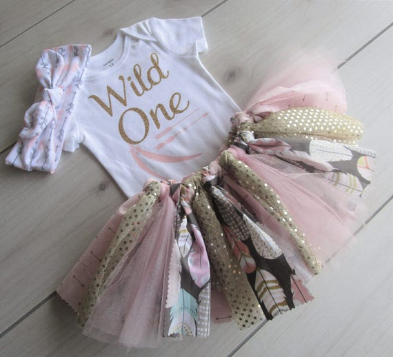 WILD ONE Tutu Set/1st Birthday Outfit/Baby Girl Tutu