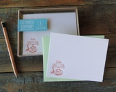 Letterpress Note Cards - Hello Telephone - Set of 8