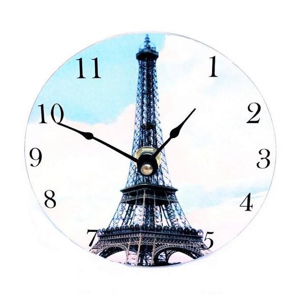 Desk Clock Vintage, Paris decor bedroom, gift for teen, Eiffel Tower  souvenir, 5\