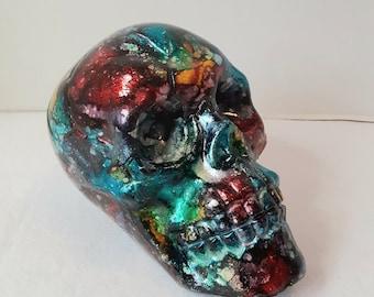 Cosmic  Skull, Human skull, plastic skull,Halloween skull, Halloween prop