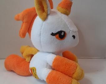 Plush unicorn, plush pony,Halloween plush, my little  pony, stuffed animal, candy corn, unicorn pegasus
