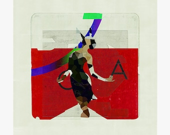 Altered cover 12 - collage - mixed media - vintage -  29,7 x 29,7 cm