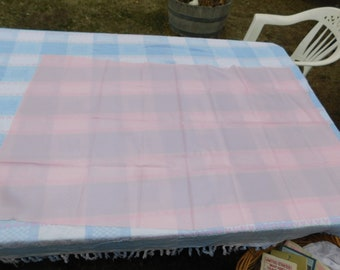 Vintage Fabric Vint Light Silky Feeling Pink Fabric Remnant pieces Sewing Fabric prop daysgonebytreasures Craft