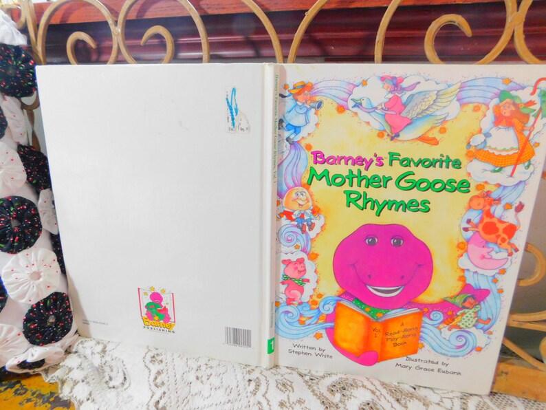 Barney Favorite Mother Goose Rhymes Barney Vintage Childrens Etsy