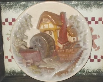 Old Water Mill, Ceramic Plate with Old Water Mill on It, Collectible  Ceramic Plate, Country Decor, Farm House Decor, Vintage Home Decor :)s