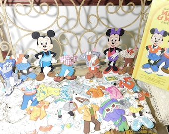 Mickey and Minnie Mouse Paper Dolls 1982, Vintage Paper Dolls, Vintage Mickey and Minnie Paper Dolls, Paper Dolls, :)s*