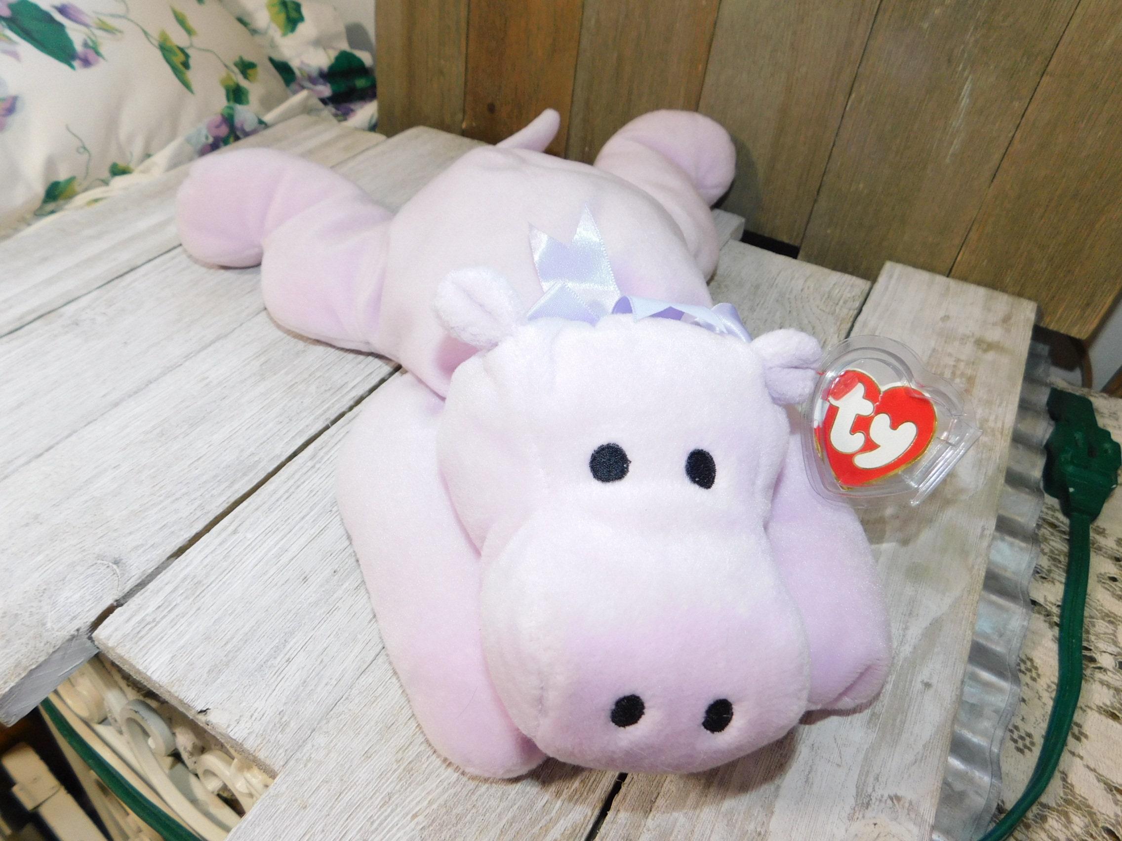 Ty Hippo Stuffed Toy Vintage Ty Purple Hippo Vintage Ty Etsy