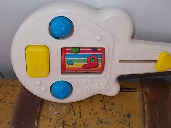 Playskool Busy Guitar 1988 Busy Box Guitar Baby Toy Toddler Etsy