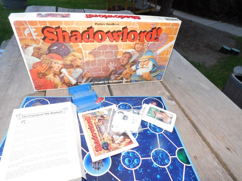 Shadowlords Parker Brother Game 1983 Vintage Board Games image 0